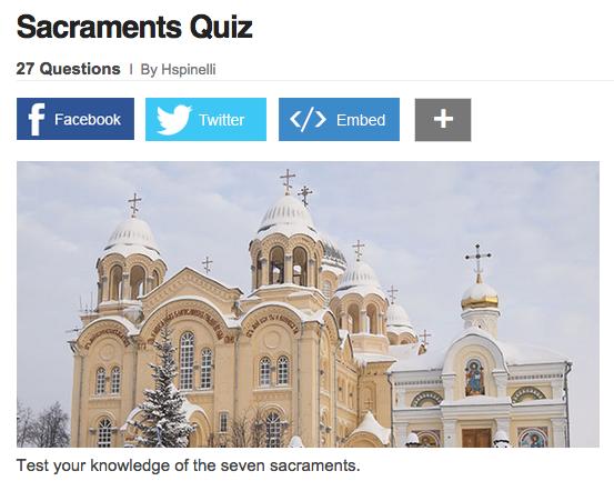 Sacraments Quiz