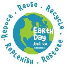 Earth Day Reuse Recycle Restore Reduce Replenish
