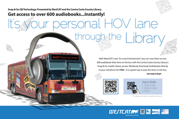 Listen to books on the bus