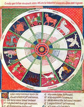 illuminated manuscript zodiac