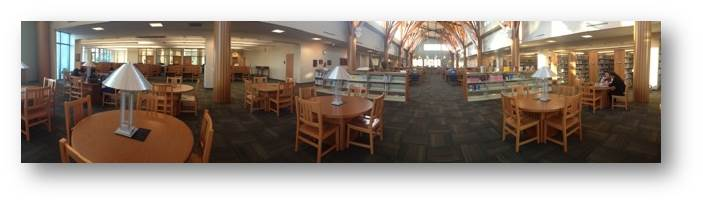 EVC study tables in the library