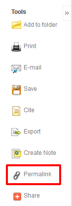 Ebscohost Tools