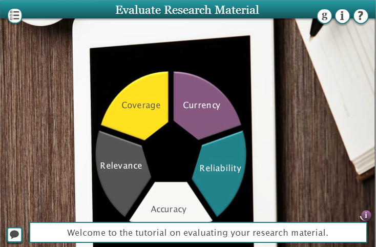 Evaluate research material