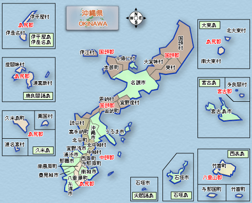 Okinawa Prefecture map