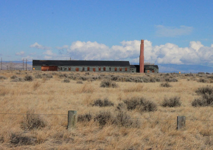 The last remaining barracks at the Heart Mountain Internment Camp (near Powell, Wyoming), 2011