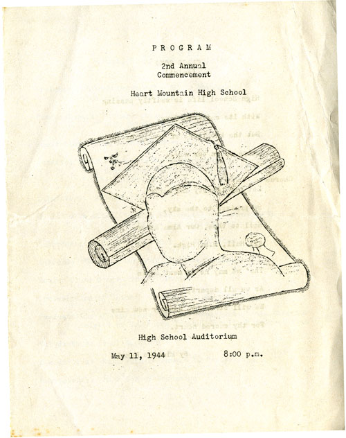 Part 1/7: Heart Mountain High School 2nd Annual Commencement Program, May 11, 1944
