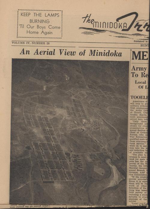 """An Aerial View of Minidoka,"" Minidoka Irrigation Sept. 16, 1944"