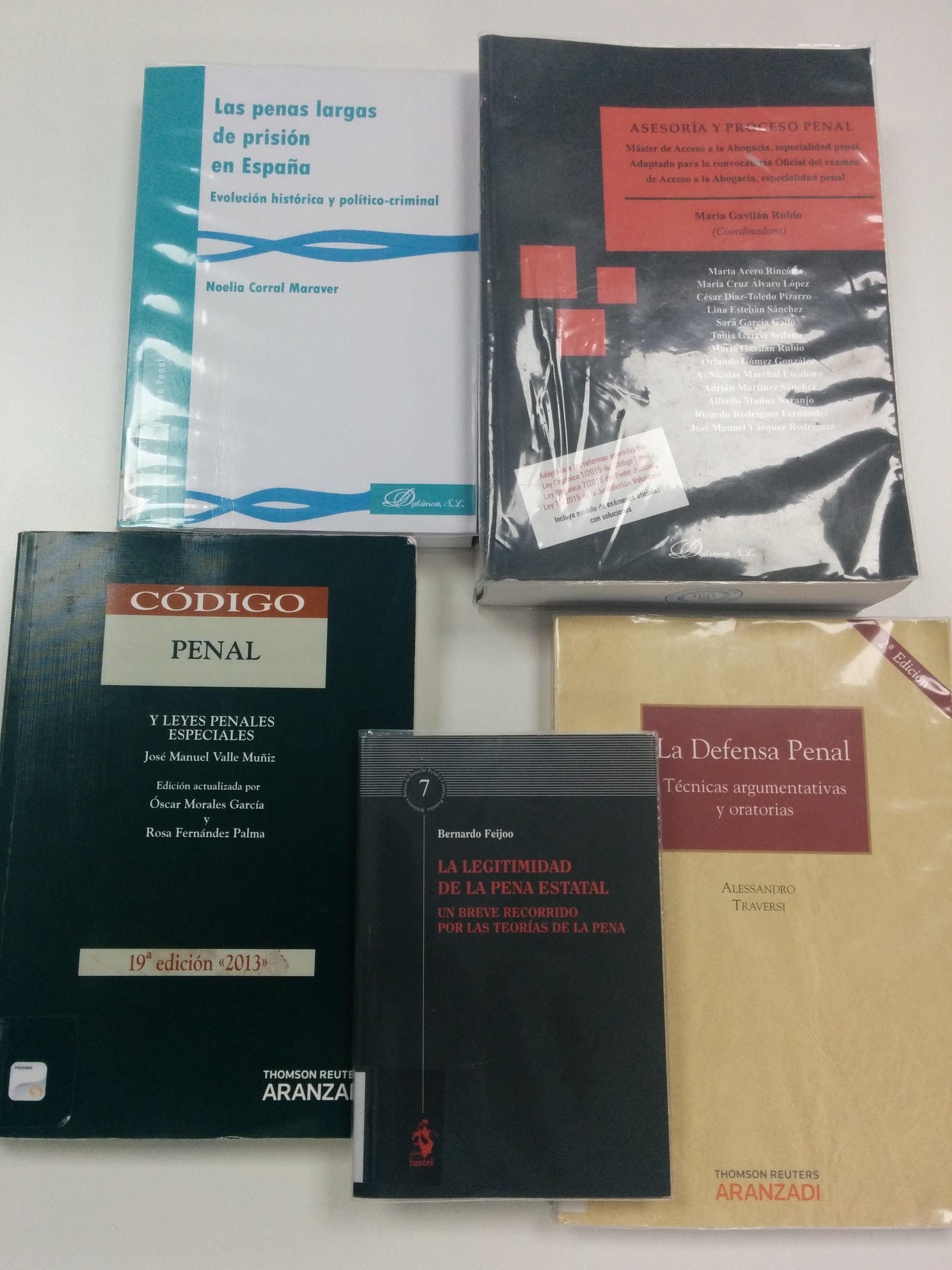 Novedades sobre derecho penal en nuestro catálogo