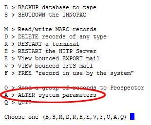 IIIChar Alter System Parameters