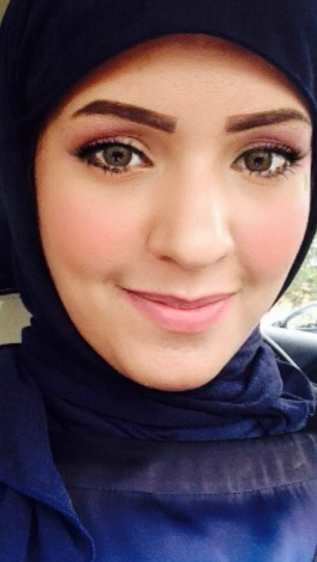 Photo of Hadeel Alhumaydhi in a blue head covering and dress or blouse.