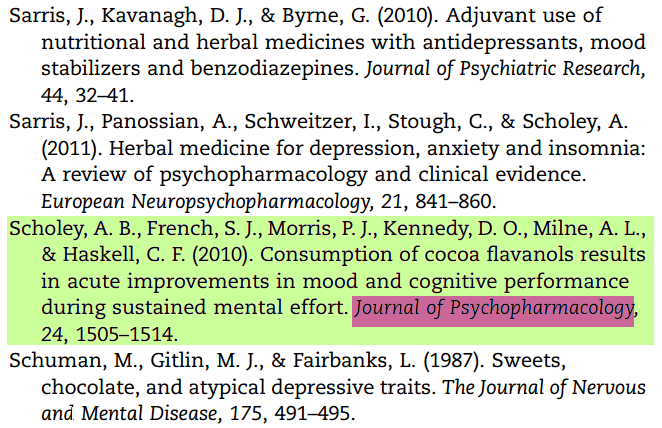 Screenshot of journal article's Works Cited section