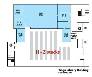 Tioga Map 2nd floor