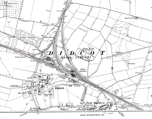 Didcot 1:10 560 1913 map extract