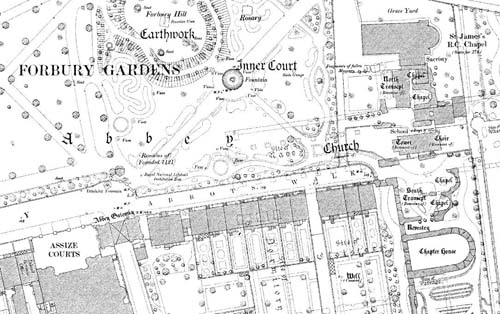 Reading 1:500 1879 map extract