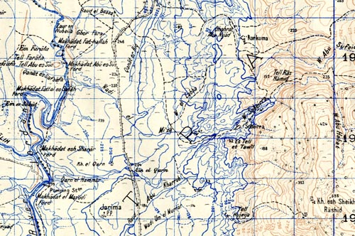 Levant 1:50 000 map extract