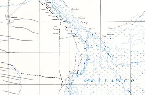 1:500 000 Botswana map extract