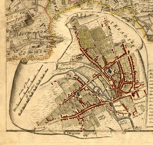 Reading 1761 map extract