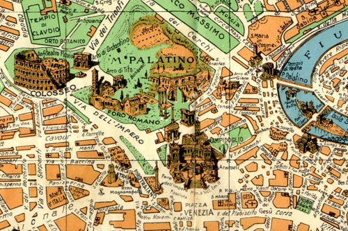 Rome pictorial map extract