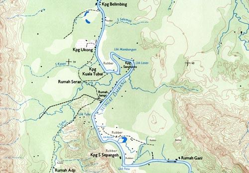 Sarawak 1:50 000 map extract