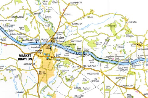 Shropshire Union Canal map extract