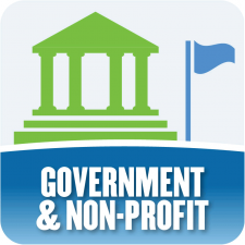 generic logo that reads government and non-profit