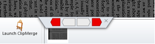 Gray and red virtual motor controls displayed near bottom of screen