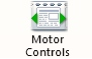 Motor control icon is a page of text with green arrows to its left and right