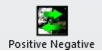 Positive negative icon with green arrows