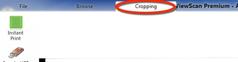Cropping tab on upper toolbar