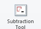 Subtraction tool icon contains partial red box and black subtraction sign