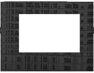 Blank rectangle in middle of scanned item