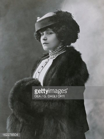 Black and white photo of Colette