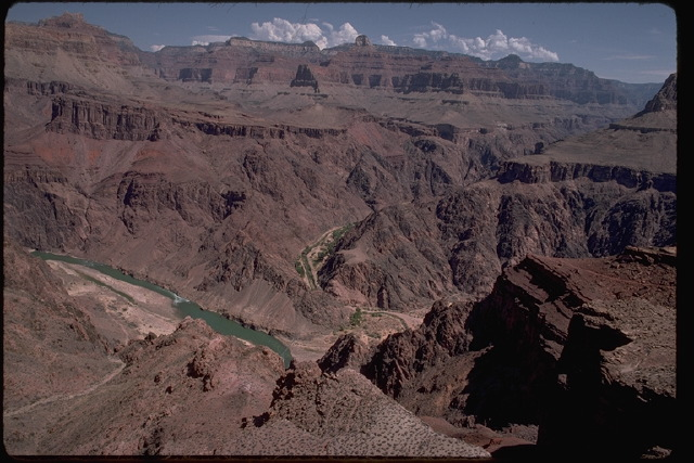 Canyon with strata