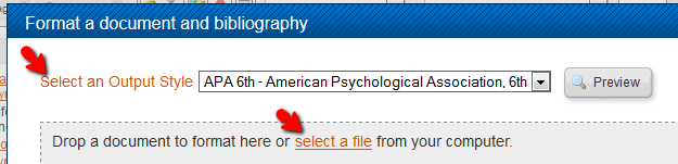 Arrow points to select a file