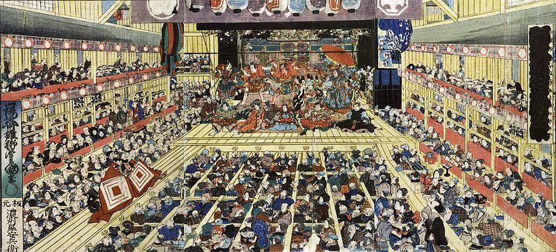 Odori Keiyō Edo-e no sakae by Toyokuni III