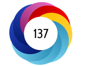 Altmetric Donut is a colorful circle with an altmetric score displayed inside. The score here is 137