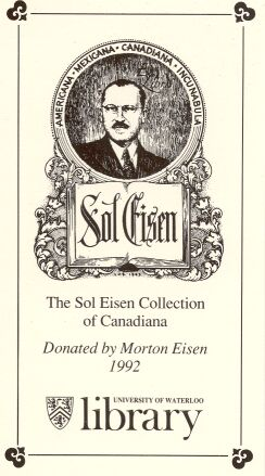Sol Eisen book plate. Long description follows the image