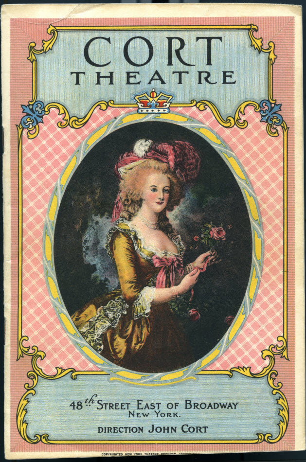 Cort Theatre playbill