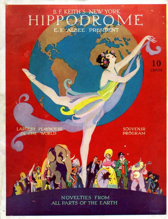 Hippodrome Theatre playbill