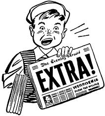 Kid selling newspaper