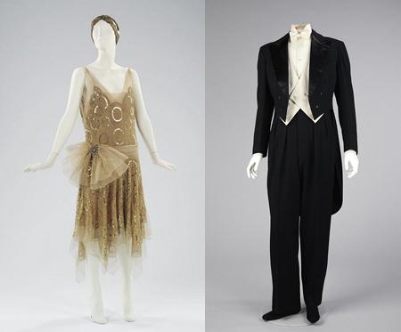 Flapper attire and Gatsby-esque suit