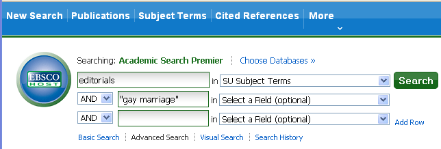 screen shot of a sample search in Ebsco's Academic Search Complete