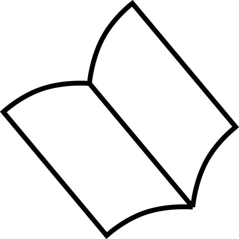 Icon of an open book or journal.
