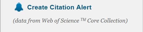 Web of Science allows the creation of Citation Alerts for articles.