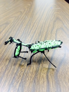 3-D printed praying mantis