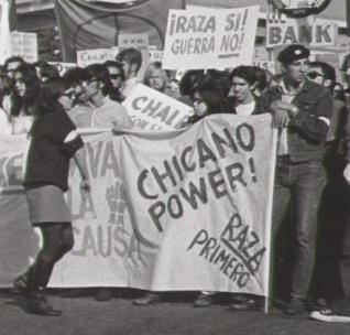 protest sign with 'Chicano Power!'