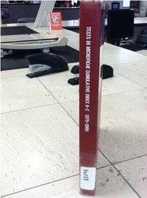 Tests in Microfiche spine label