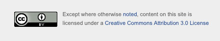Except where otherwise noted, content on this site is licensed under a Creative Commons Attirbution 3.0 License