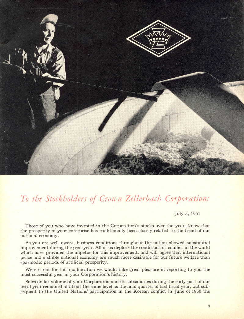 image of the first page of an annual report from 1951