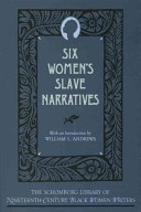 """image of a primary source book called """"six women's slave narratives"""""""